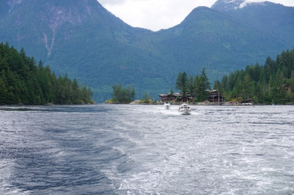 Leaving Malibu Rapids heading toward Princess Louisa Inlet